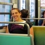 Elena in the Sling, on the RER.