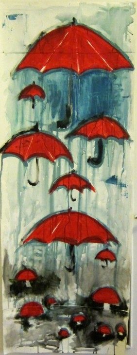 umbrella painting