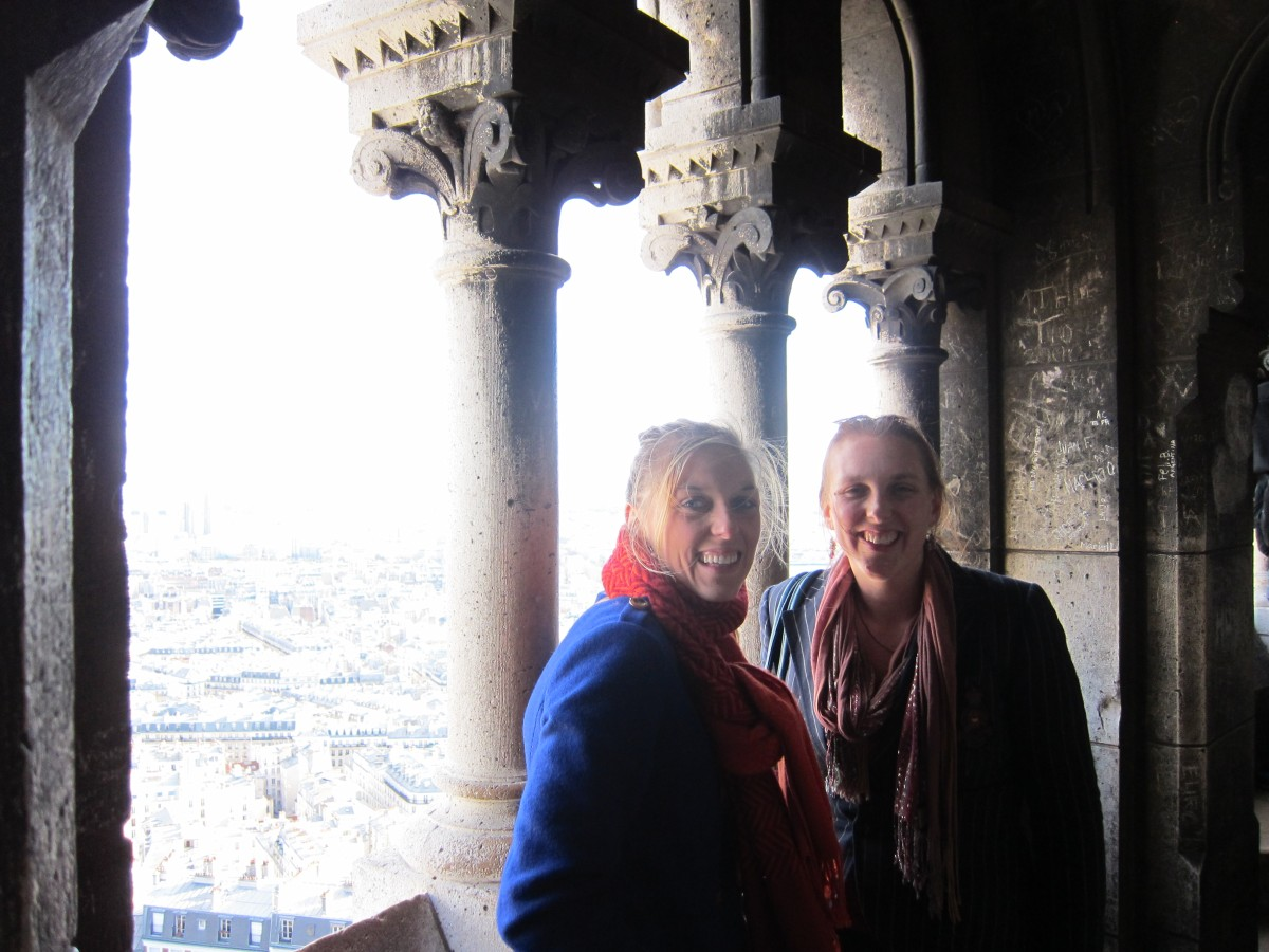 My and my sister at the top of Sacre Coeur