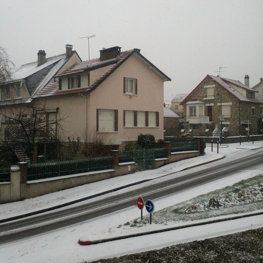yesterday, snow