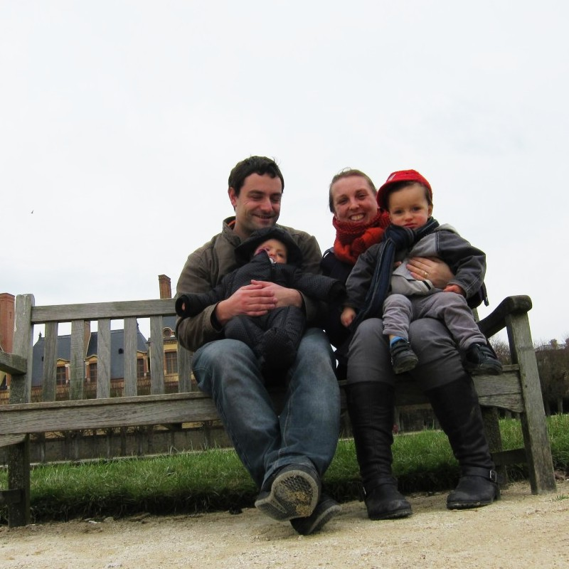 family photo at fontainbleau
