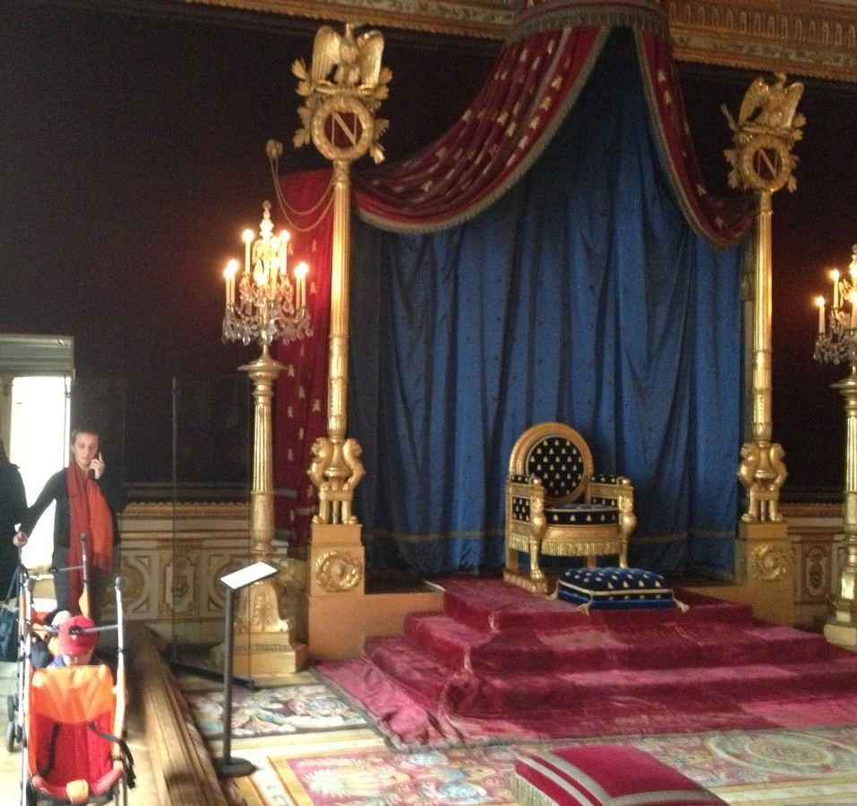 Napoleon's throne, where kings once slept