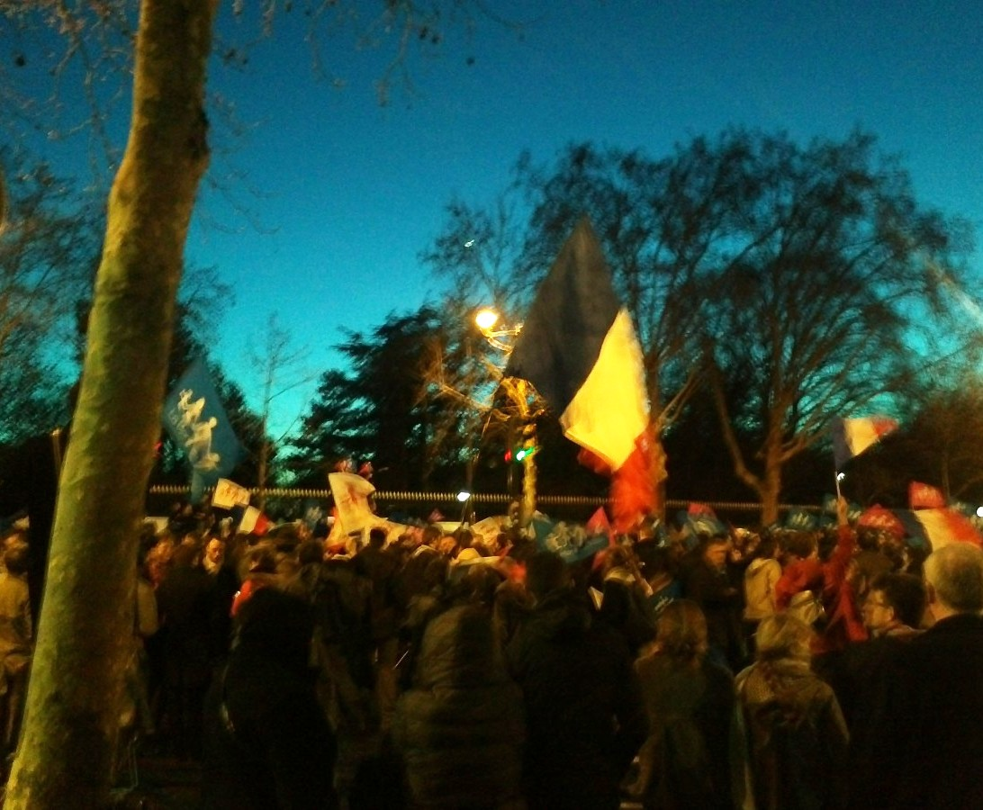 protesting at luxembourg