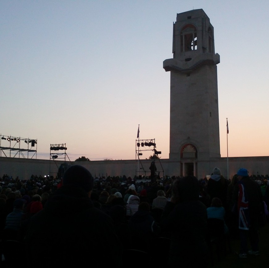 Australian Memorial Service, as seen on TV