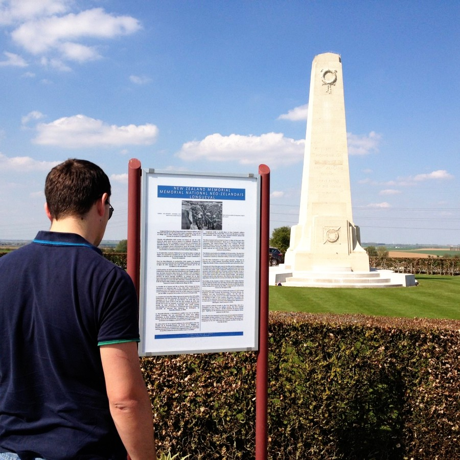 NZ memorial at Longueval, France
