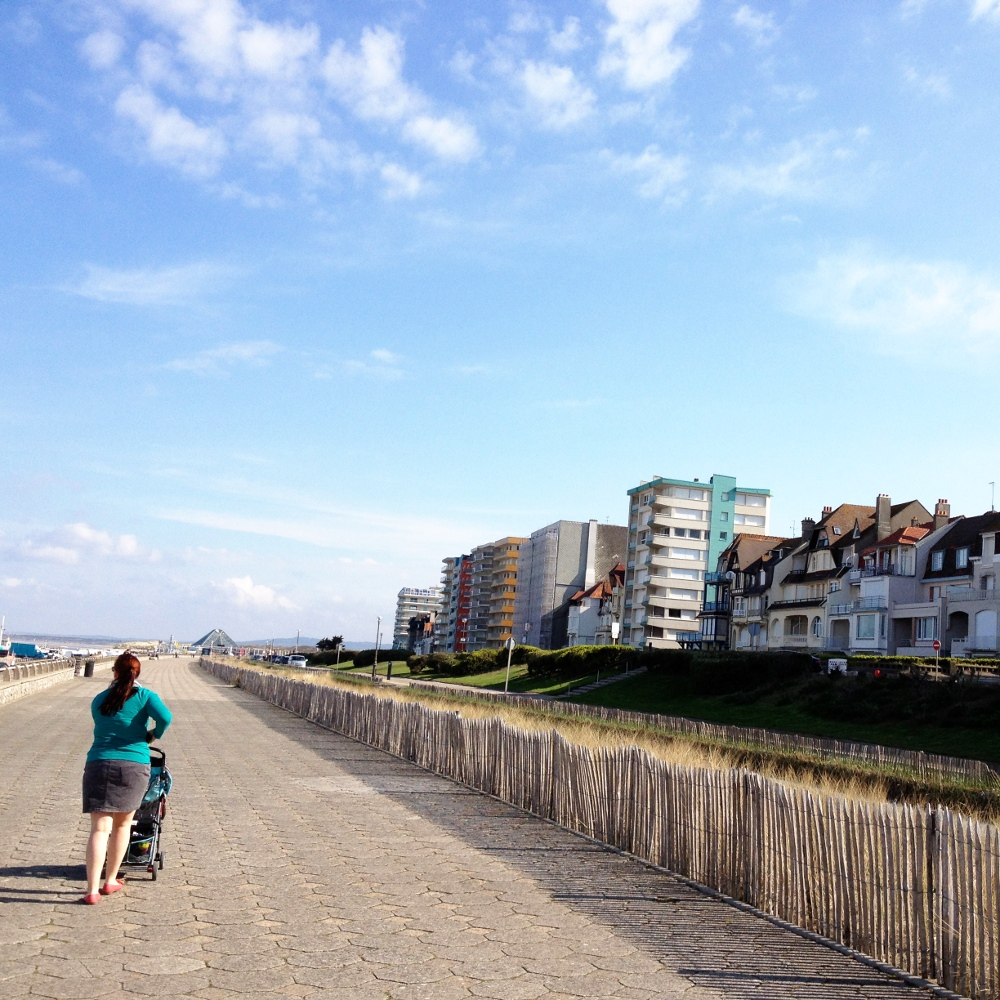 On the boardwalk at Le Touquet