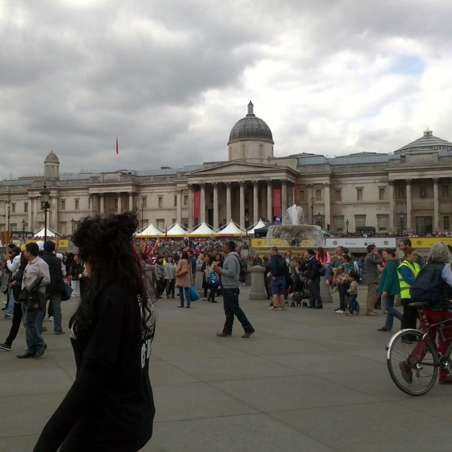 Trafalgar square alive