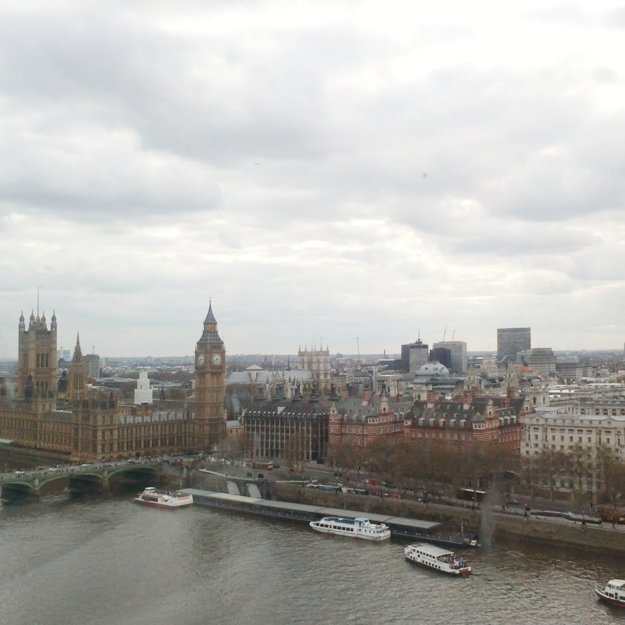 view of parliament from the eye