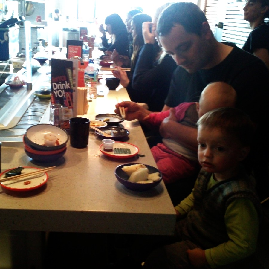 sushi train for lunch