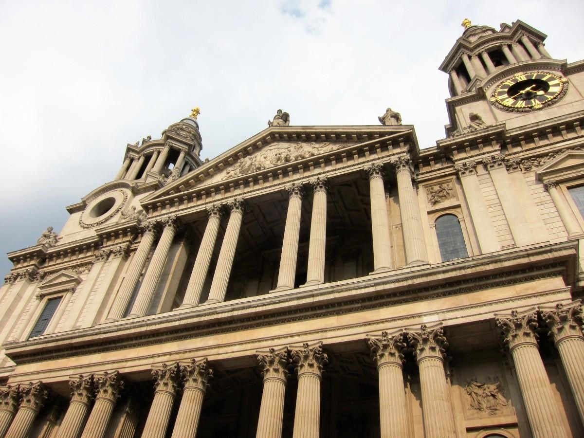 above St Paul's eastern door