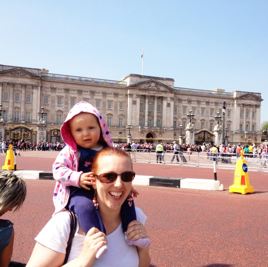 Elena and I, watching for the Queen