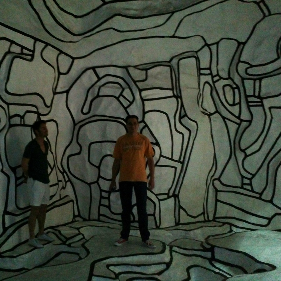 cool cave with the cousins, at centre pompidou