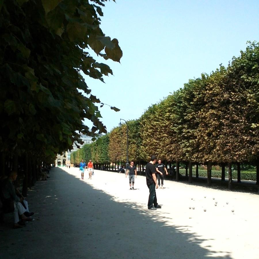 Pétanque, Jardins de Palais Royale