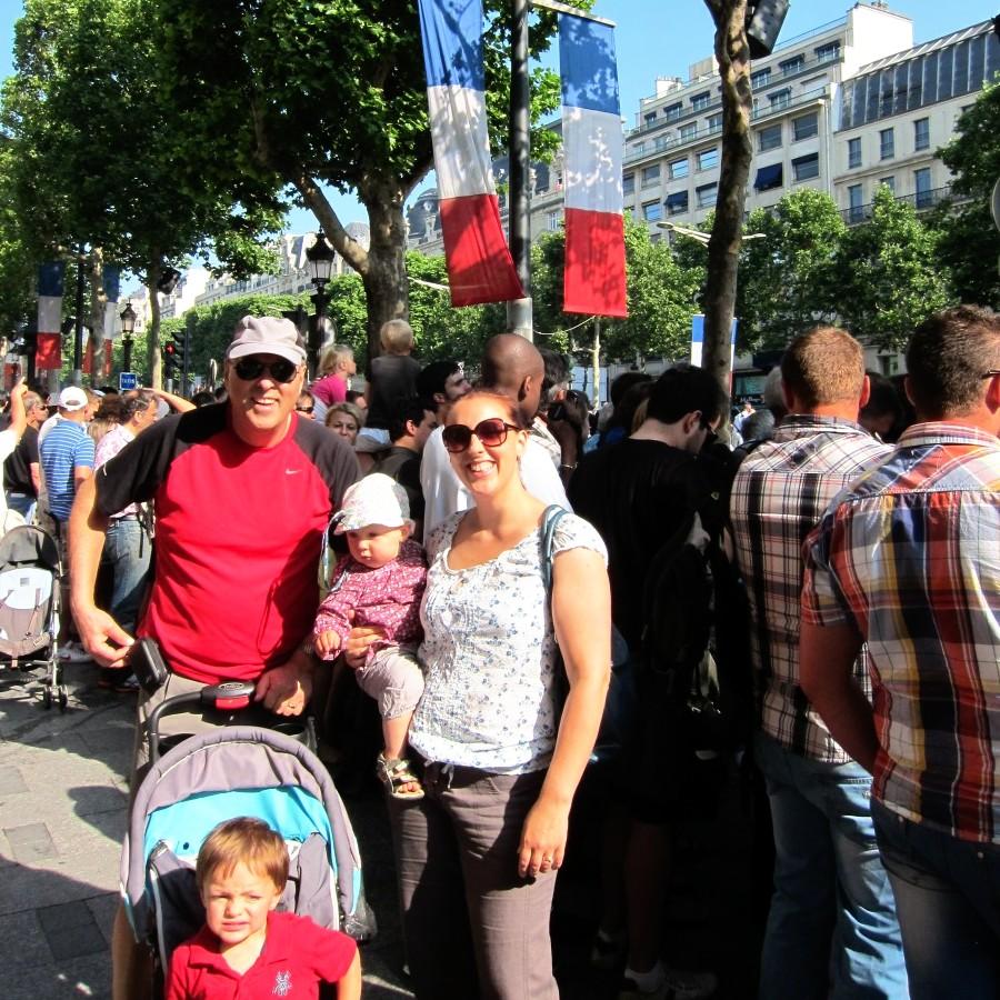 Me, the kids and dad, 14 Juillet, Paris