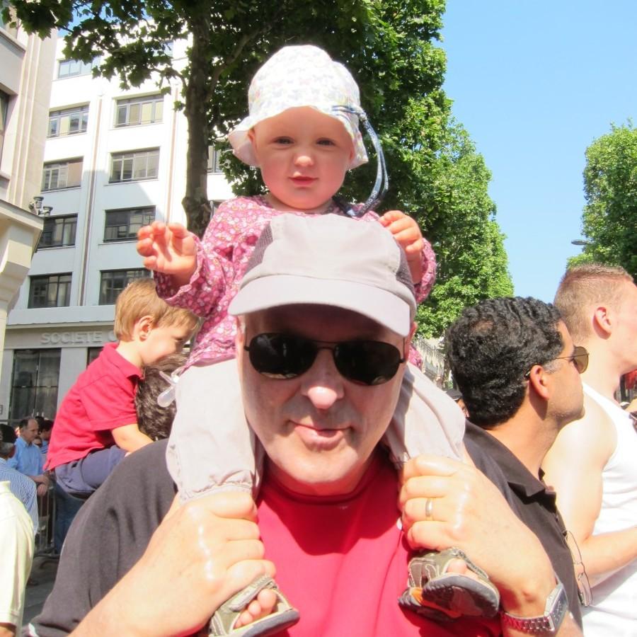 Elena, on grandpa's shoulders