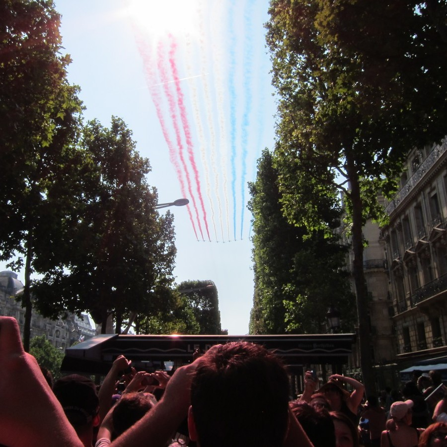 tricolore in jet trails, 14 July 2013