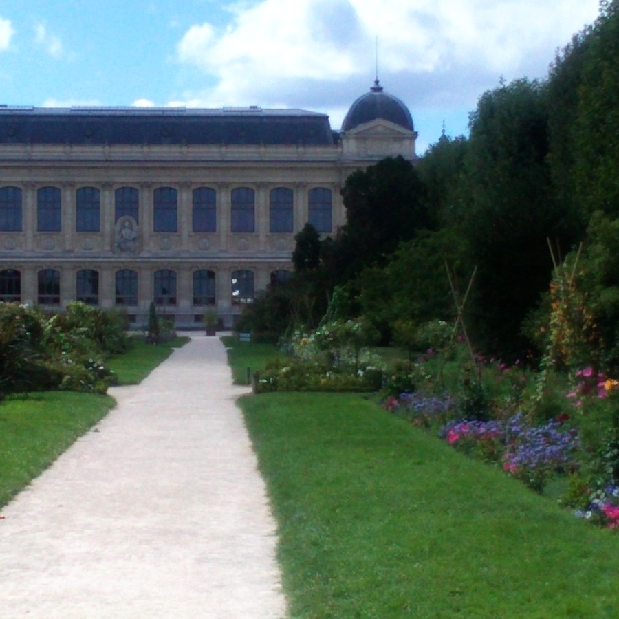 jardin des plantes and grand gallery of evolution in background
