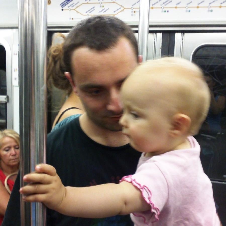 baby in the metro