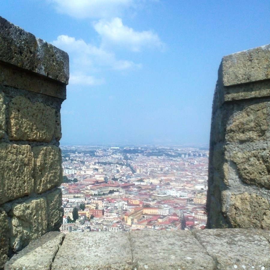 view from ramparts of st elmo's castle