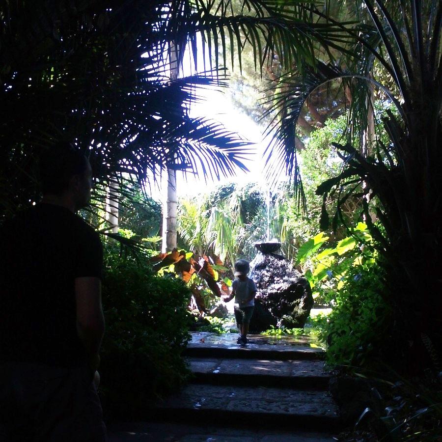 Louis exploring giardini la mortella