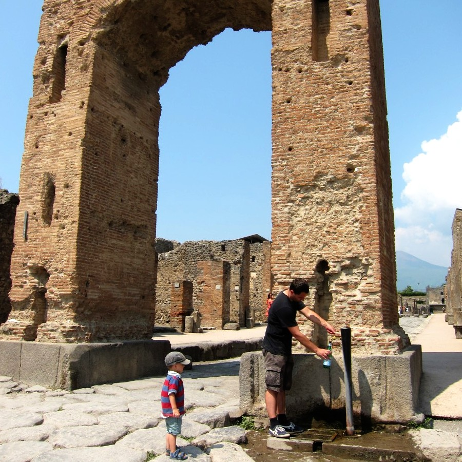 hydrating at pompeii