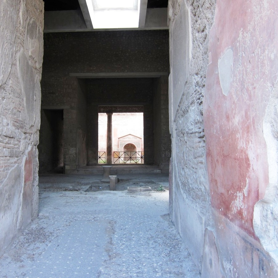 looking into the cool, at pompeii