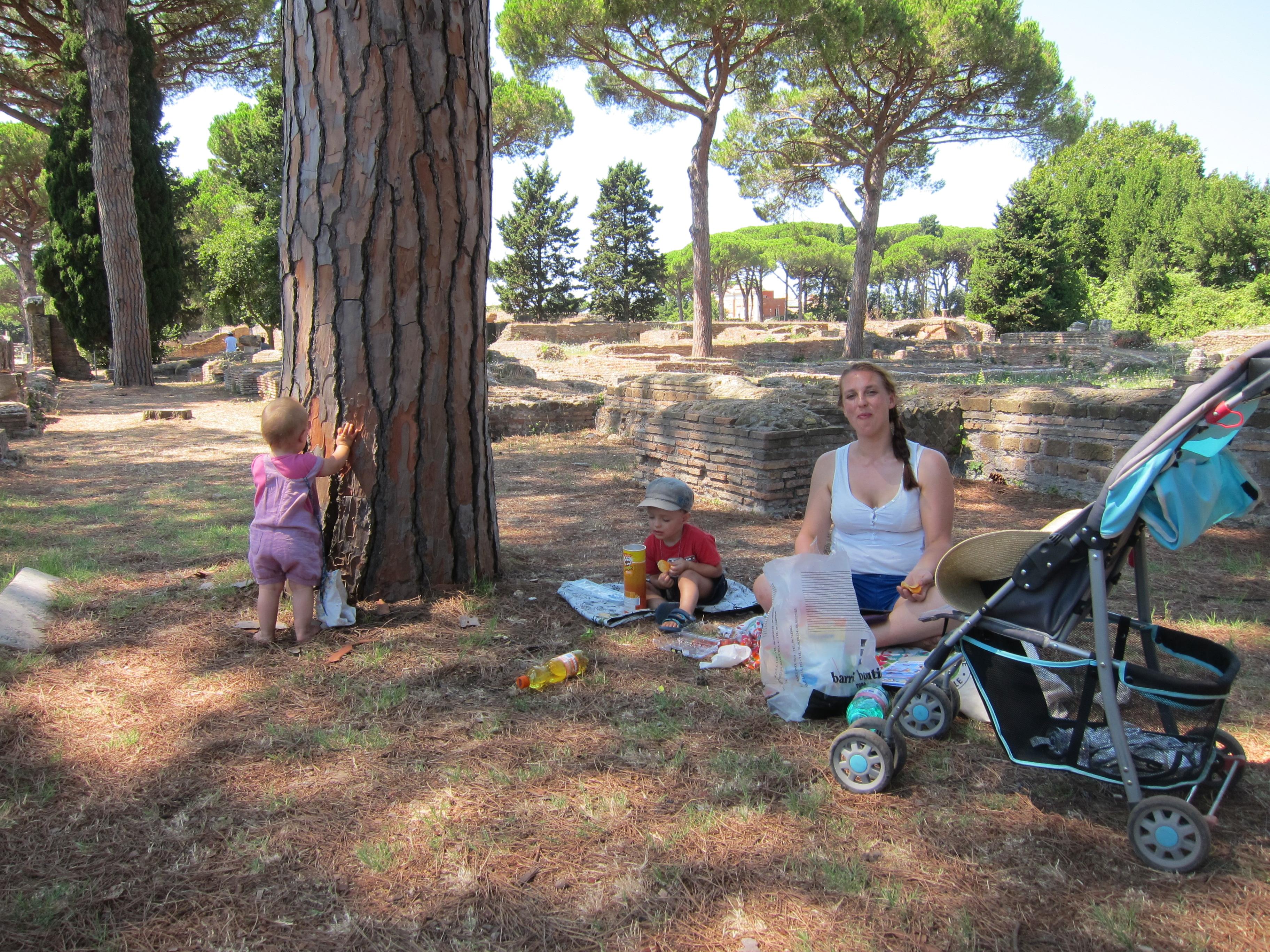 Picnic at Ostia Antica