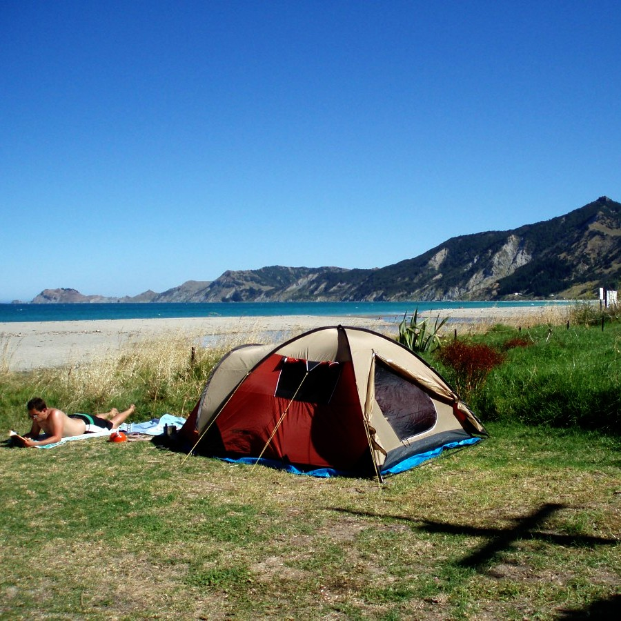 freedom camping east coast, new zealand