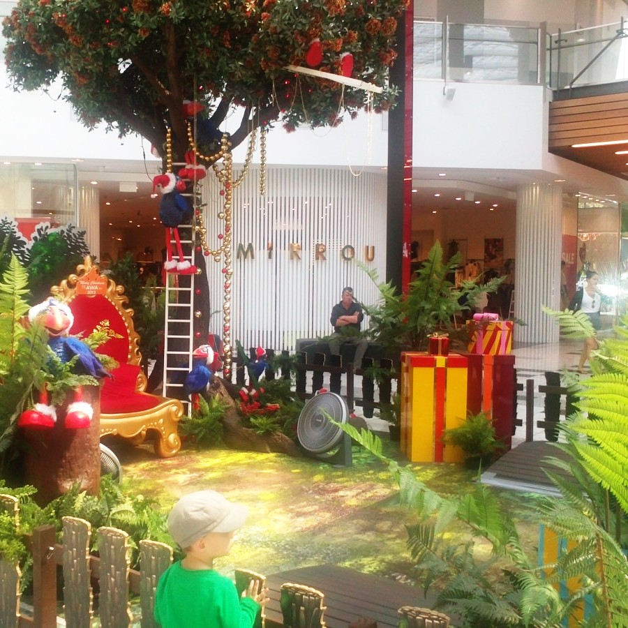 Santa's hangout in a NZ mall
