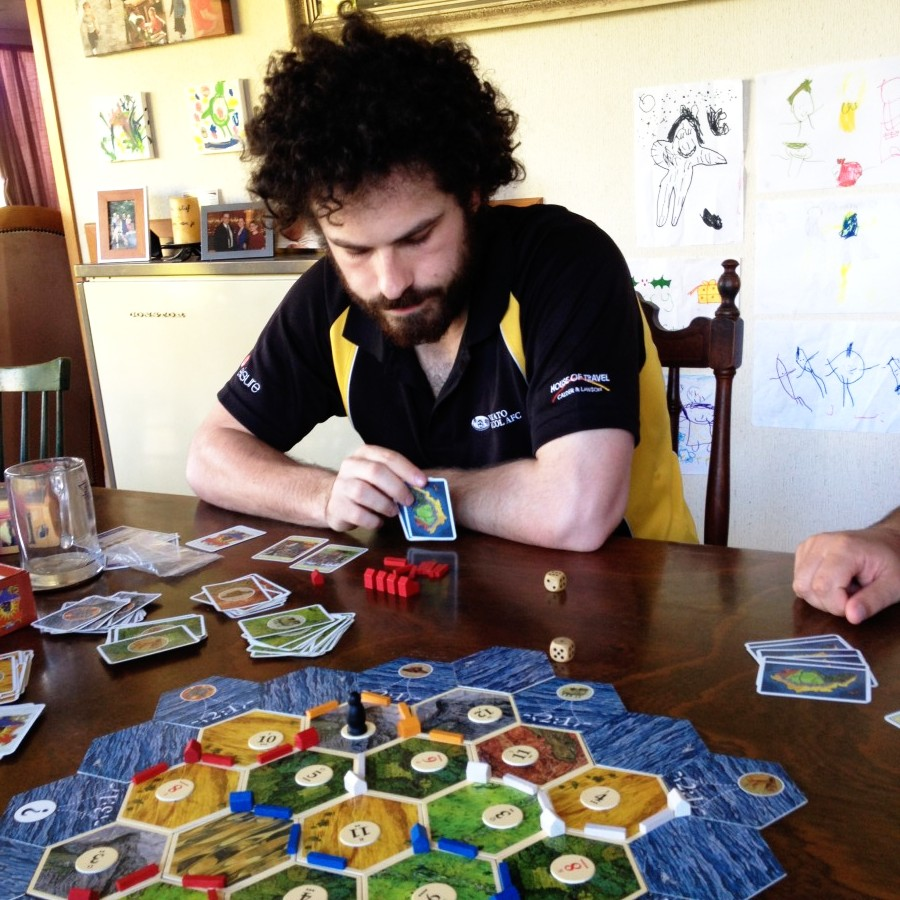 settling catan with Dave