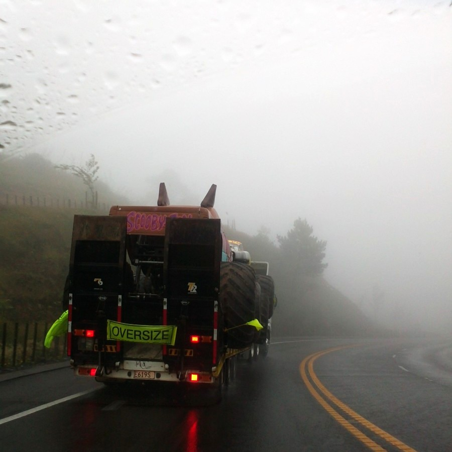 rainy kaimais and moster trucks
