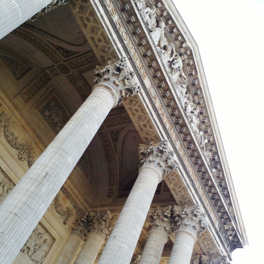 pantheon facade, paris