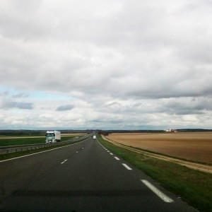 driving north, in france