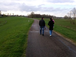 walking on the dijk