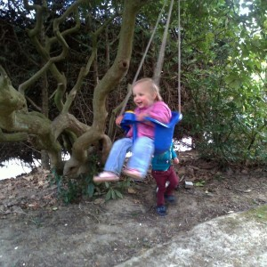 elena swinging happy