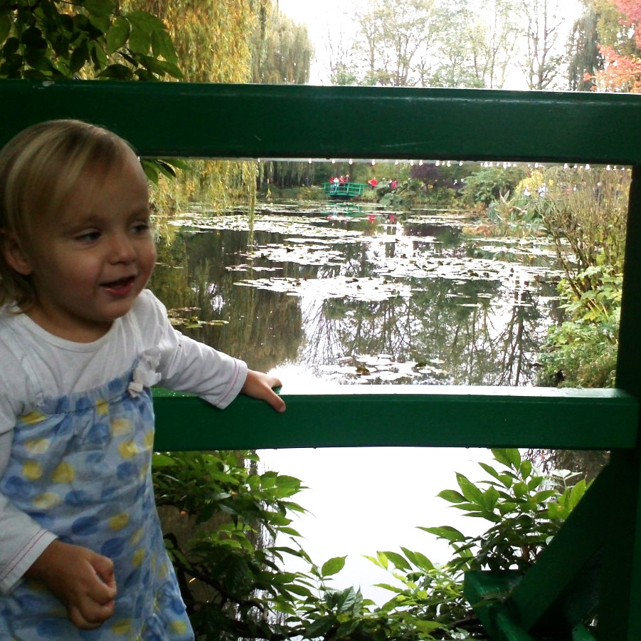 elena at monet's gardens