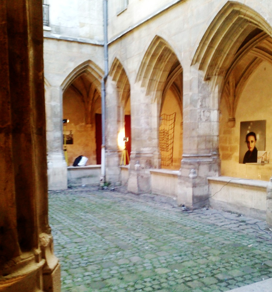 art in a cloister, in the marais
